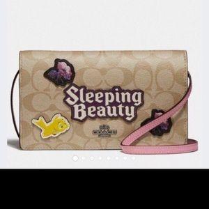 Disney X Coach Crossbody/Wallet Sleeping Beauty
